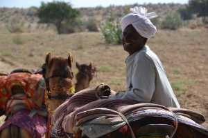 Camel safari Jaisalmere
