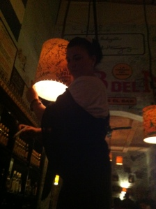 aliz dancing on bar