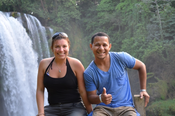 Pulhapanzak Waterfalls with Walter
