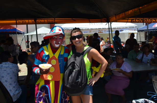 with the clown