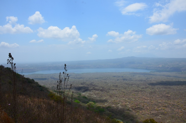 view from Masaya crater